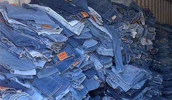 pile of used levis